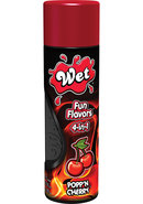 Wet Fun Flavors 4 In 1 Water Based Lubricant Popp N Cherry...