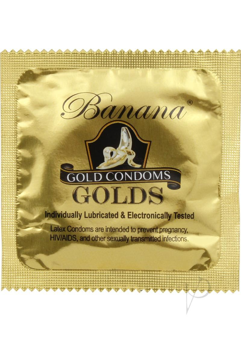 Banana Golds Single Latex Condoms 1000 Each Per Case