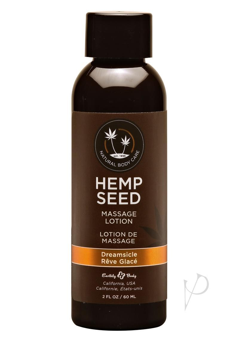 Hemp Seed Massage Lotion 100% Vegan Dreamsicle 2 Ounce