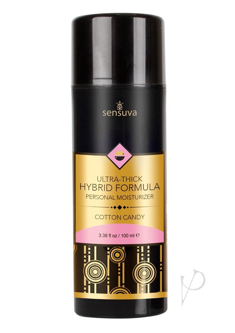 Sensuva Ultra Thick Hybrid Formula Personal Moisturizer Cotton Candy Flavored Lubricant 3.38oz