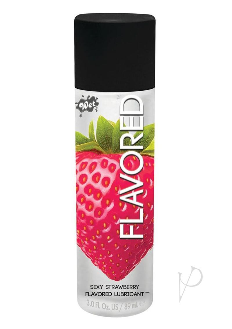 Wet Flavored Water Based Gel Lubricant Kiwi Strawberry 3.5 Ounce