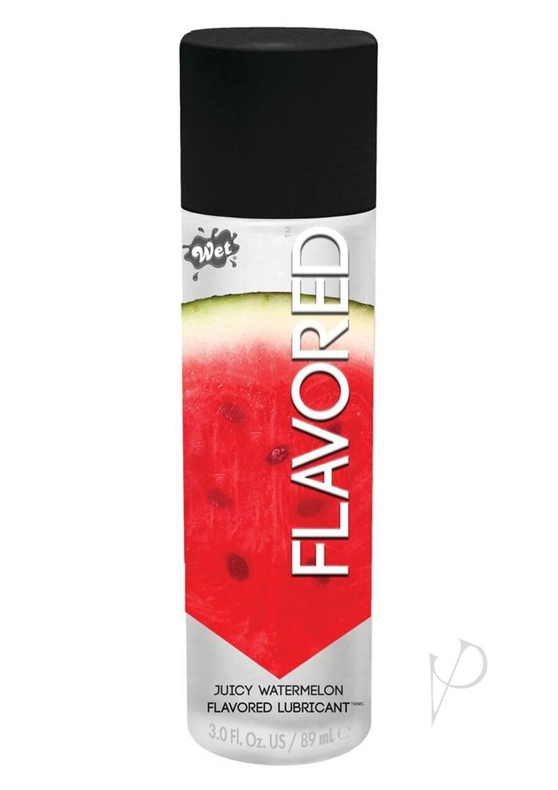 Wet Flavored Water Based Gel Lubricant Watermelon 3.5 Ounce